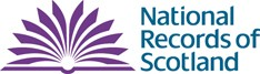 Image shows the logo of the National Records of Scotland.