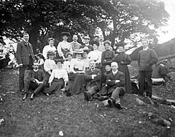 Image shows Sunday school teachers at their annual picnic, c.1920, National Records of Scotland reference: CH3/723/34/269/2